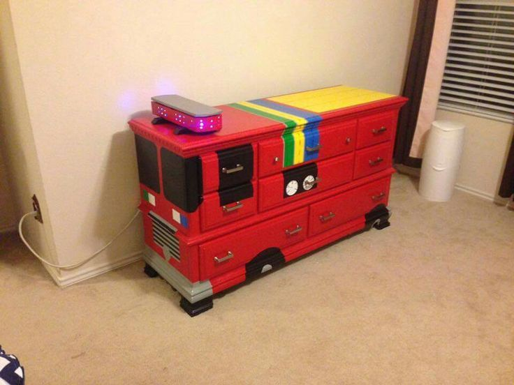 Image result for painted child's truck dresser