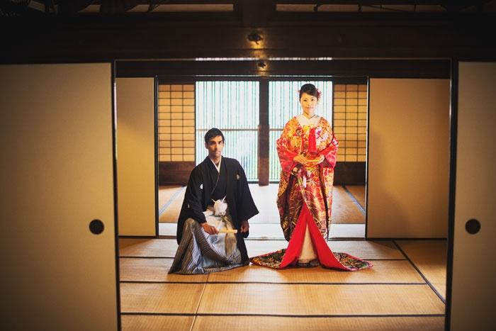横浜で春のロケーションウェディング。和装結婚フォト。