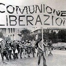 Comunione e Liberazione.  L'origine di questo movimento risale al 1954, da Luigi Giussani, ma il nome viene da un volantino diffuso da alcuni universitari nel 1969.  La sua idea principale è: Gesù Cristo è la liberazione della vita e dell' uomo, qui e nell' aldilà, è legata continuamente all'incontro con lui.