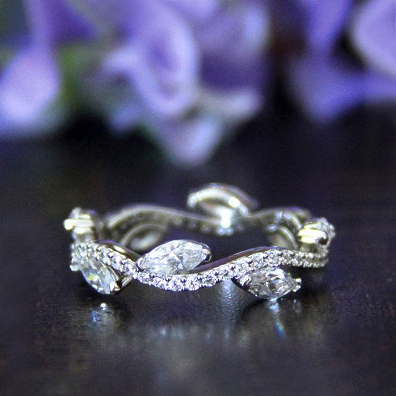0.54 ct.tw-Wave Wavy-1.3mm Wide Wedding Band by Besbelle on Etsy