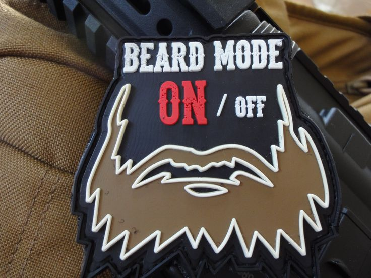 "MORALE patches : 3D Rubber MORALE PATCH: ""Beard Mode: ON"""