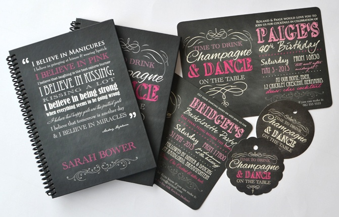 Invitations, journals, gift tags... embrace this fun, celebratory theme in many a form - www.macaroon.co