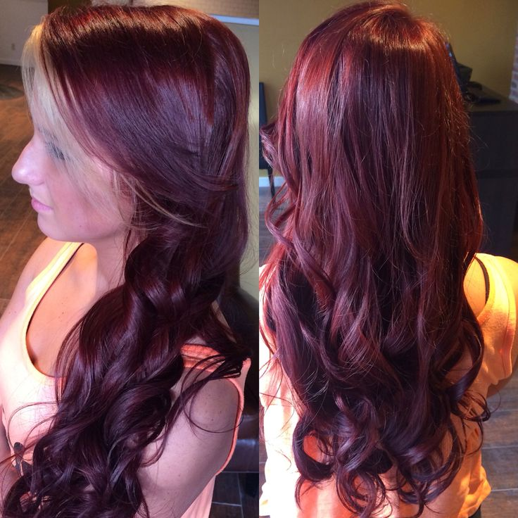 Vibrant Red Violet With Blonde In The Fringe Paul