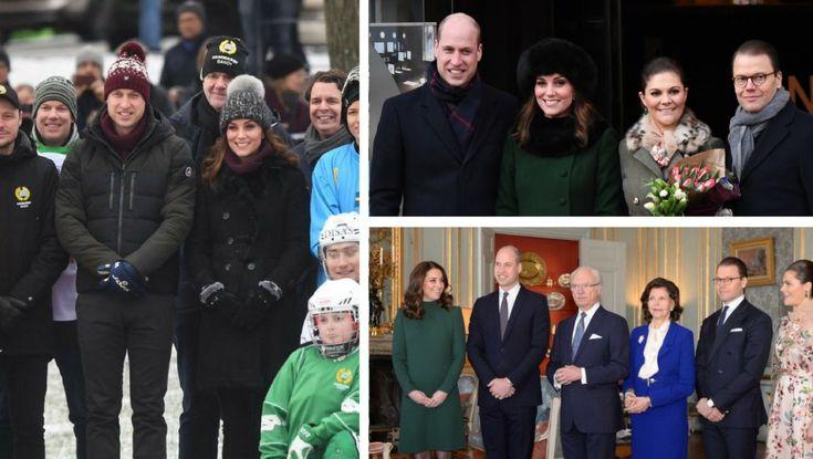 William & Kate play hockey & lunch with Swedish Royalty beginning #RoyalVisitSweden