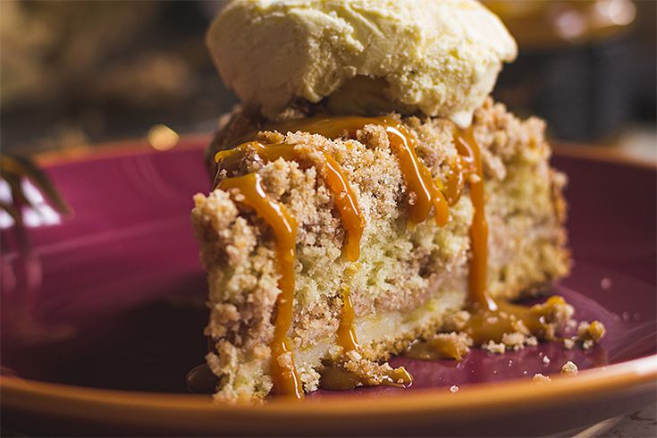Apple Crumb Cake | Jablkový koláč s posýpkou  》Tina《