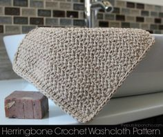 Herringbone Crochet Washcloth Pattern – The Purple Poncho