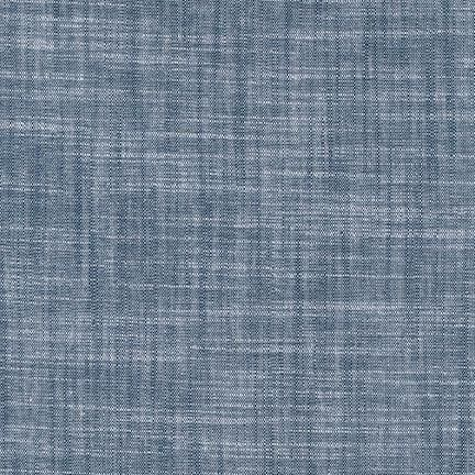 Robert Kaufman Chambray Union - Indigo Blue Crosshatch Stretch