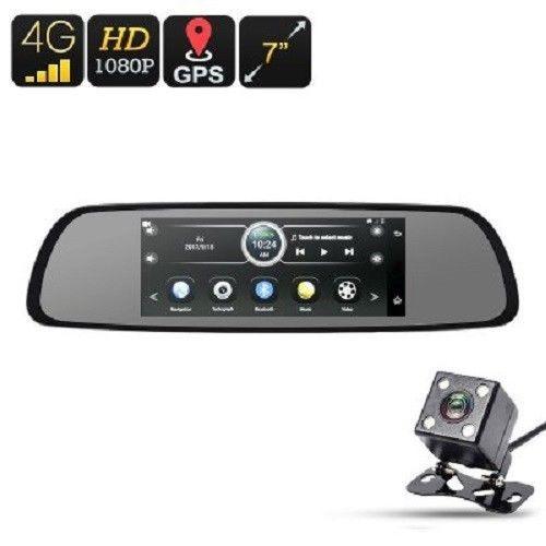 4G Car DVR Android OS 1080p Camera Rear-View Parking Camera 7-In Display google