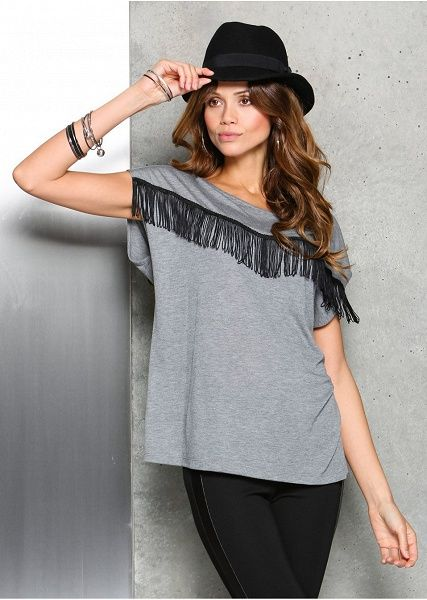 Shirt z frędzlami Modny shirt z • 72.99 zł • Bon prix