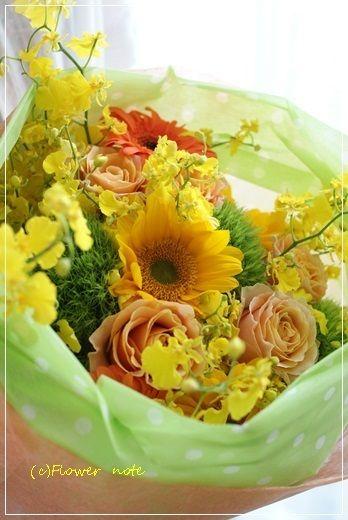 【今日の贈花】お母さんの笑顔と誕生日|Flower note の 花日記