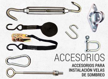 Accesorios para instalaci n velas de sombreo toldos for Accesorios para toldos enrollables