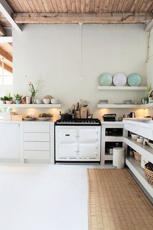 modern kitchen with natural decor. / sfgirlbybay