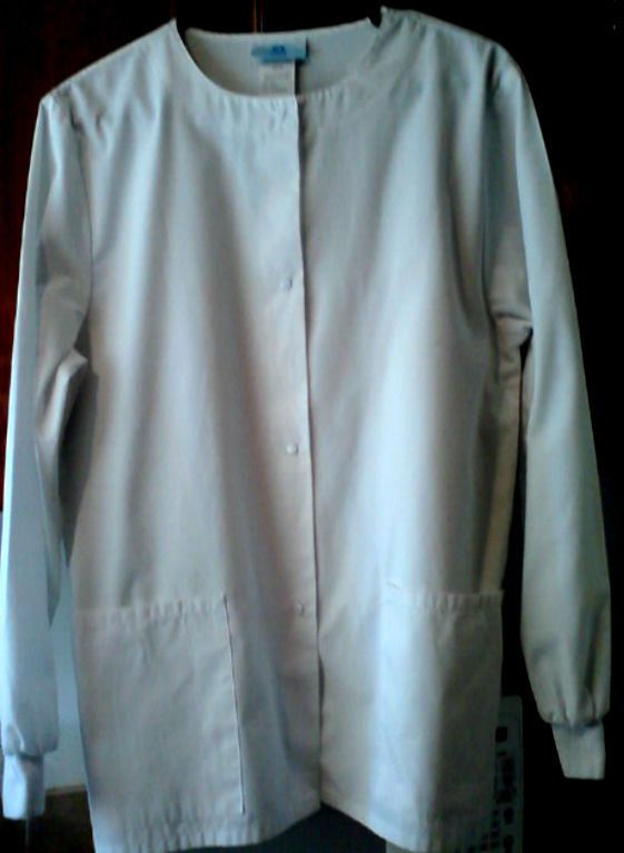 SCRUBS White Lab Coat Jacket 2 Large Front Pockets LongSleeve Size Small 914  #Scrubs