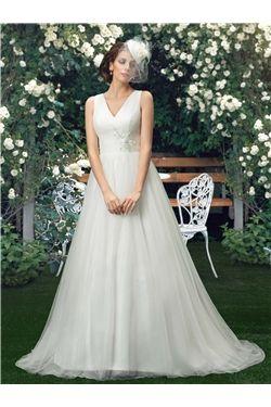 Floor-Length Court All Sizes Glamorous & Dramatic Summer Spring Garden/Outdoor Sleeveless Wedding Dress