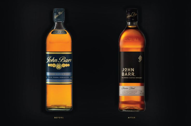 """""""Raise expectations."""" Although John Barr was an award-winning Scotch  whisky, it needed an update to the packaging to indicate the product's high  quality. Since it was recently improved, Cue was tasked with redesigning  the spirit and giving it a new design in preparation for a re-launch. The  approach has an emphasis on tradition, while still looking bold and  different enough to stand apart from the competition. Its look is updated  and modern enough to catch the attention of younger…"""