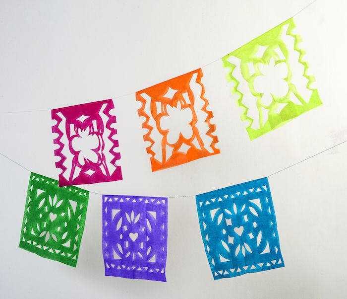 Use the free templates to create these pretty papel picado for Papel picado template for kids