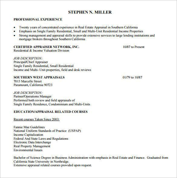 Real Estate Resume Template Word Realtor Cv Resume Template