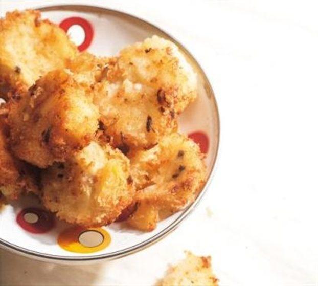Τηγανητός πουρές πατάτας με φέτα