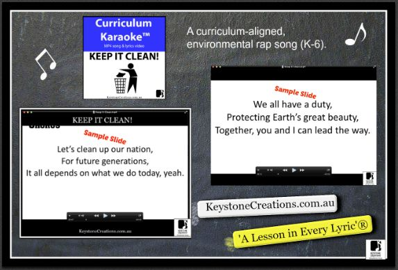 MP4 song & lyrics video ~ students READ,  SING & LEARN along as the curriculum-aligned song plays and lyrics display on your classroom whiteboard and other technological devices! This curriculum-aligned song for Middle & Upper Primary helps students to understand functions of various human body systems (respiratory, circulatory, digestive, skeletal, nervous) and the need to make healthy lifestyle choices.  *DETAILS…
