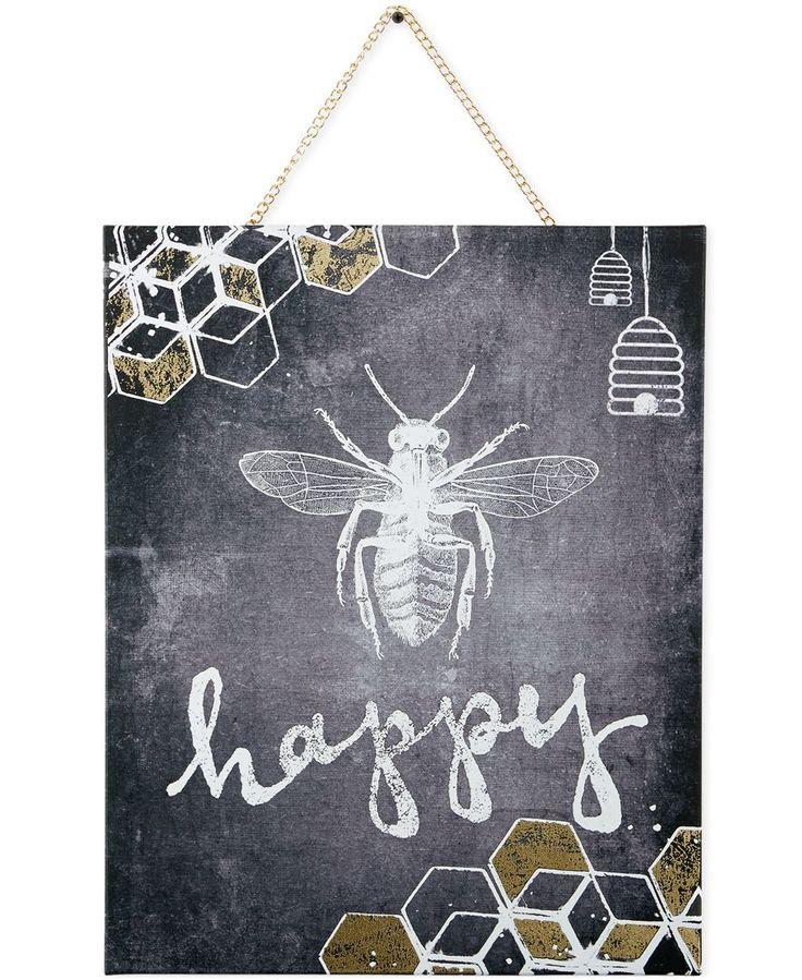Graham & Brown Canvas Bee Happy Wall Art