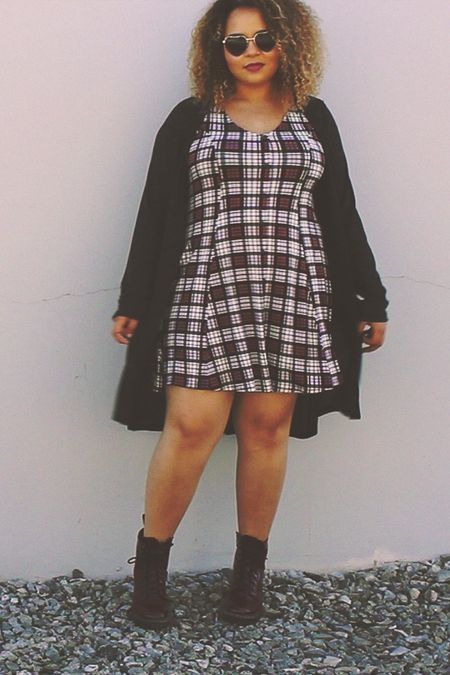 Plaid Sophie Skater Dress x Living Doll LA