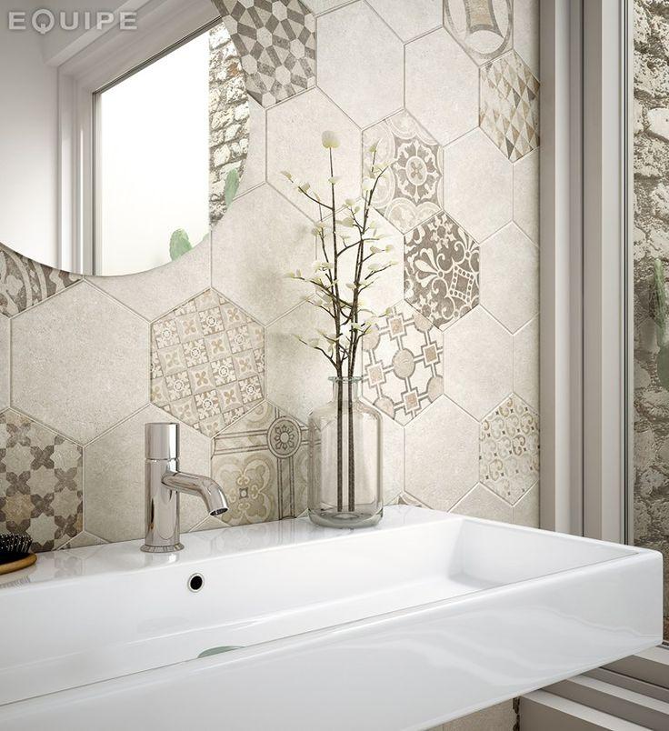 hexatile sand garden dcor x - Matchstick Tile Garden Decoration