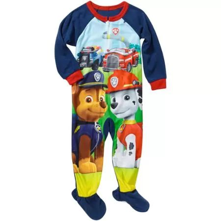 Nickelodeon Paw Patrol Baby Toddler Boy Footed Pajamas