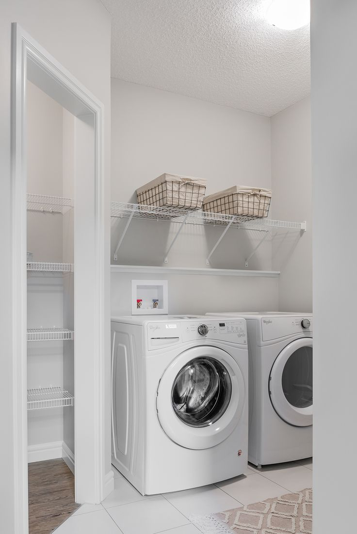 A laundry and mudroom combined? Yes please!