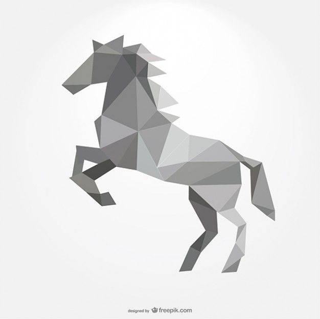 polygonal horse forming by triangles.... maybe the raider symbol