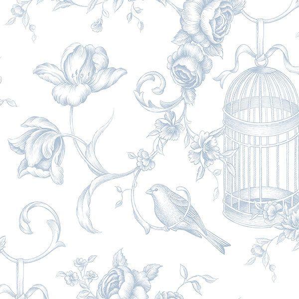 Wallpaper Inn Store - Pale blue Birdcages, R599,95 (http://shop.wallpaperinn.co.za/pale-blue-birdcages/)