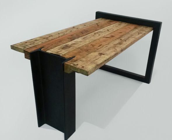 metal rustic table
