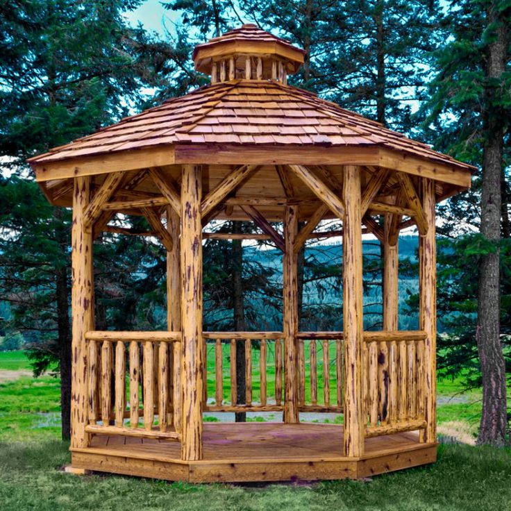 30 best images about gazebos in the fall on pinterest for Rustic gazebo kits