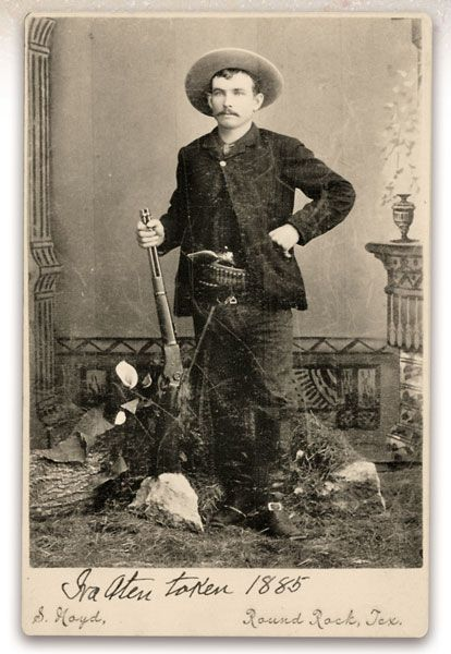 "Make no mistake about this ""Rawhide Ranger."" Though posed in a photographer's studio—with weapons prominently displayed as attention-grabbing props—Texas Ranger Ira Aten was a man fearlessly capable of standing alone during a dicey tumult, proving to be one nervy adversary throughout a number of gunfights."