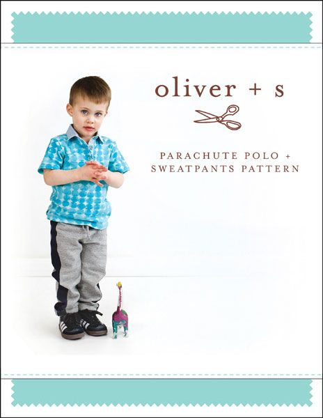 digital parachute polo + sweatpants sewing pattern