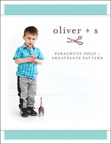 parachute polo + sweatpants sewing pattern
