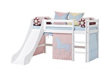 Loftsäng med rutschkana 70x160 cm - Hoppekids Indian Säng 102620 Shop - Eurotoys - Barnmöbler online