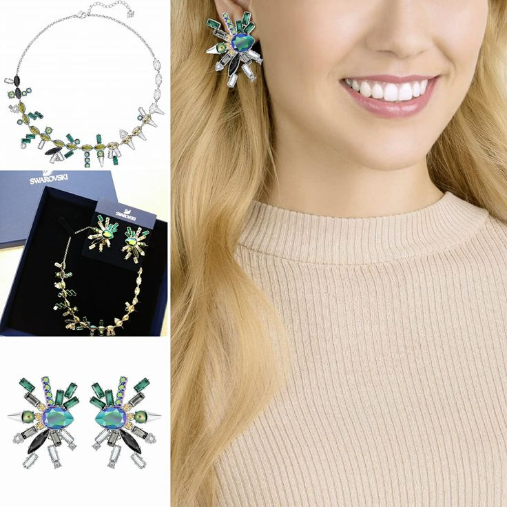 Feel like a star with this dazzling Helen earrings and necklace set. Style it with a shirt and jeans for a daytime look or with an elegant dress for a night out. Come and check out all the #swarovski #newcollection that we have picked for you. #bobthompsonjewellers #downtown #ottawa #bebrilliant #with #winter #collection #fashions #fashionjewelry #fashionist #crystals