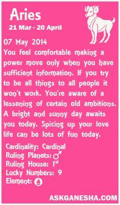 Aries horoscope 7th april