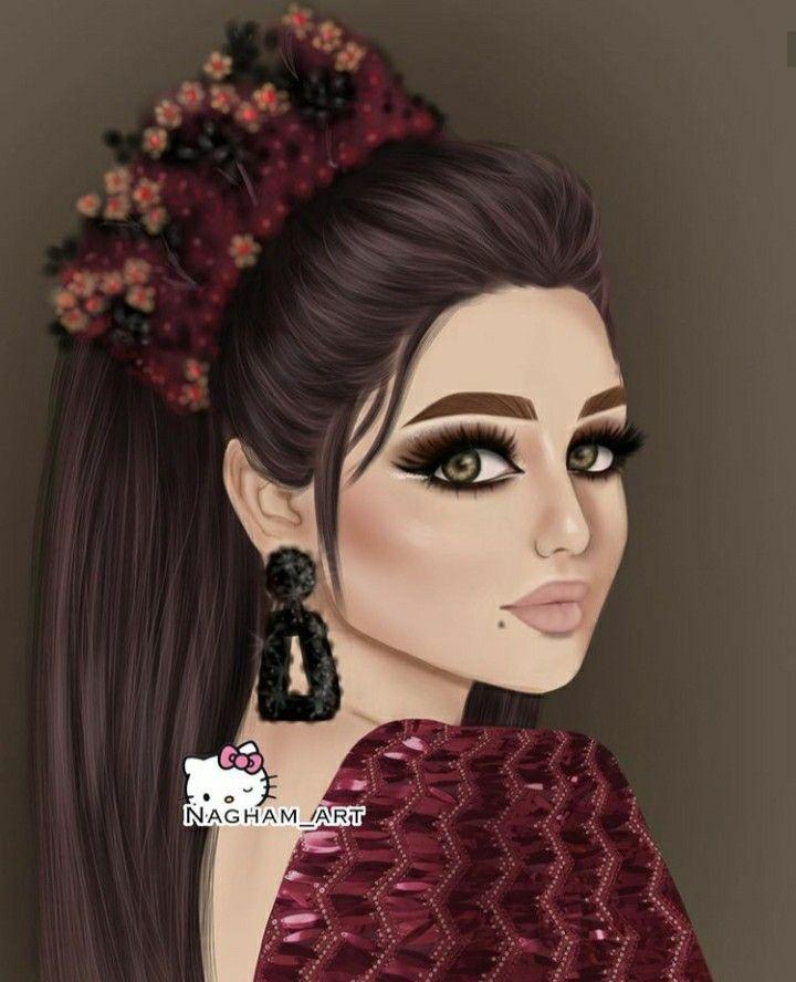 Pin By Umme Nazah On خلفيات حلوة للبنات Beautiful Girl Drawing Girly Wall Art Cute Girl Drawing