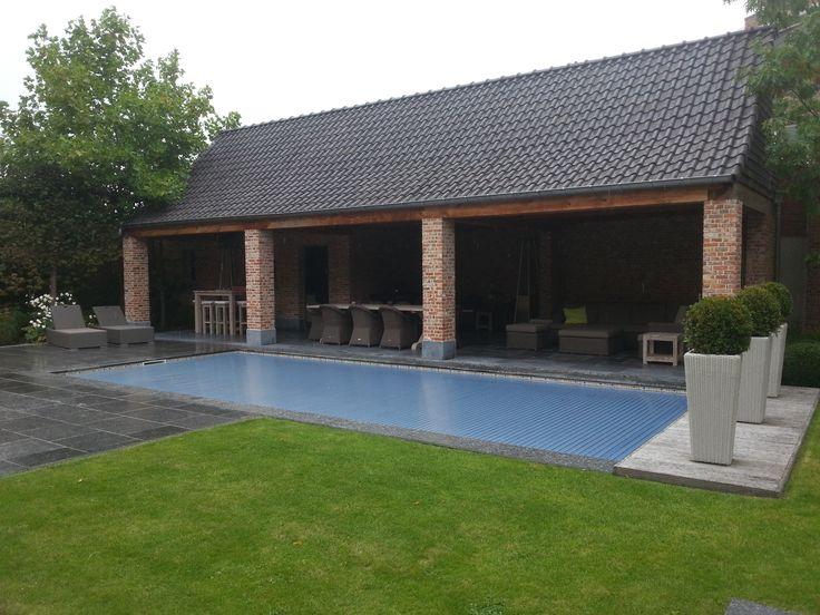 Solar afdekking zwembaden jr pools pinterest zonne - Zwarte pool liner ...