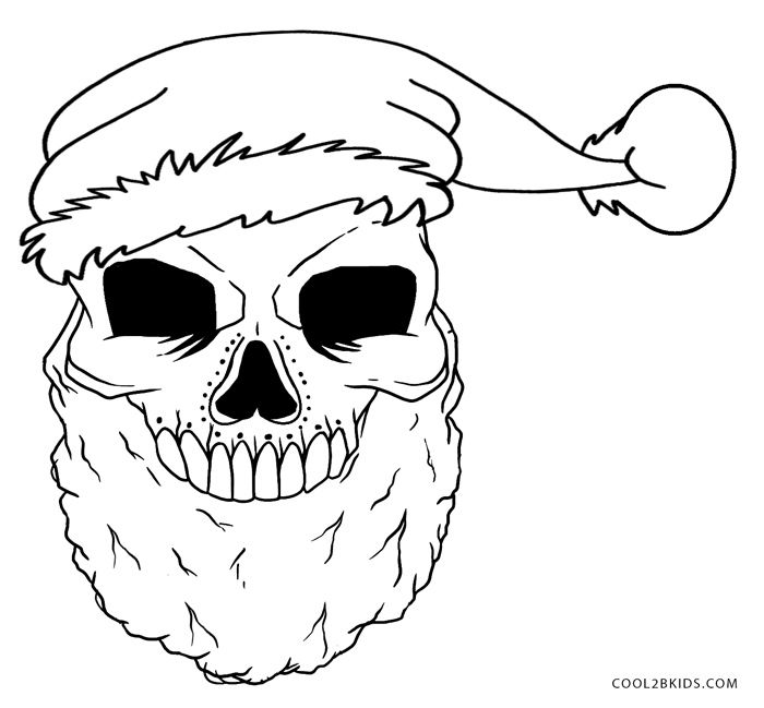 printable skulls coloring pages for kids