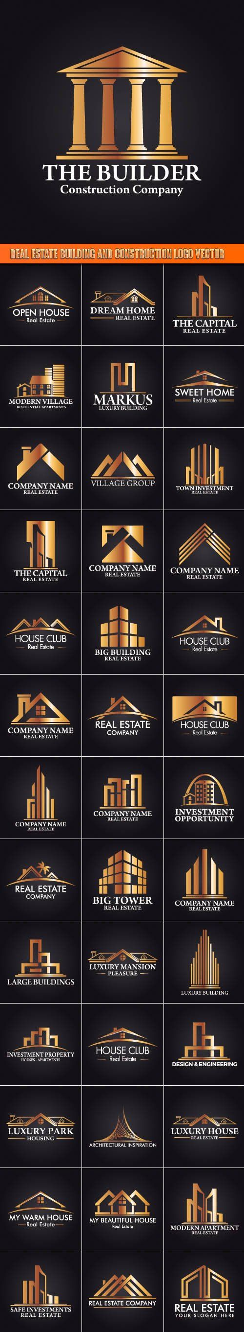 Real Estate Building and Construction Logo Vector