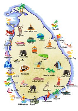 Sri Lankan Main Tourist attractions. www.tripsrilanka.net www.srilankahotelsonline.com