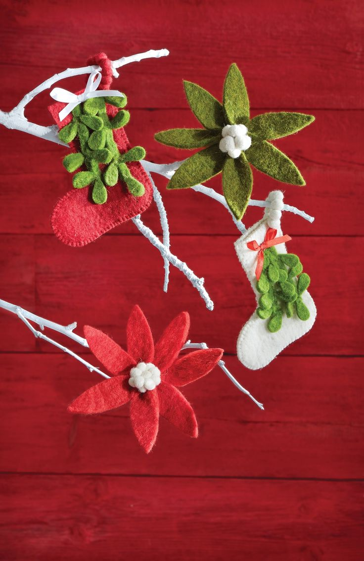 Felt Mistletoe Ornaments Will Perfectly Adorn Your Christmas Tree This  Year Handmade By Artisans,