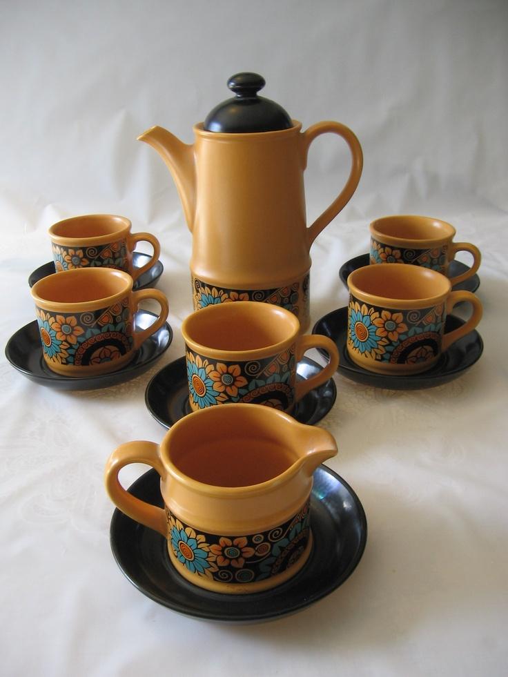 Vintage 1960 S1970 S Retro Sunflower Sadler Tea Coffee