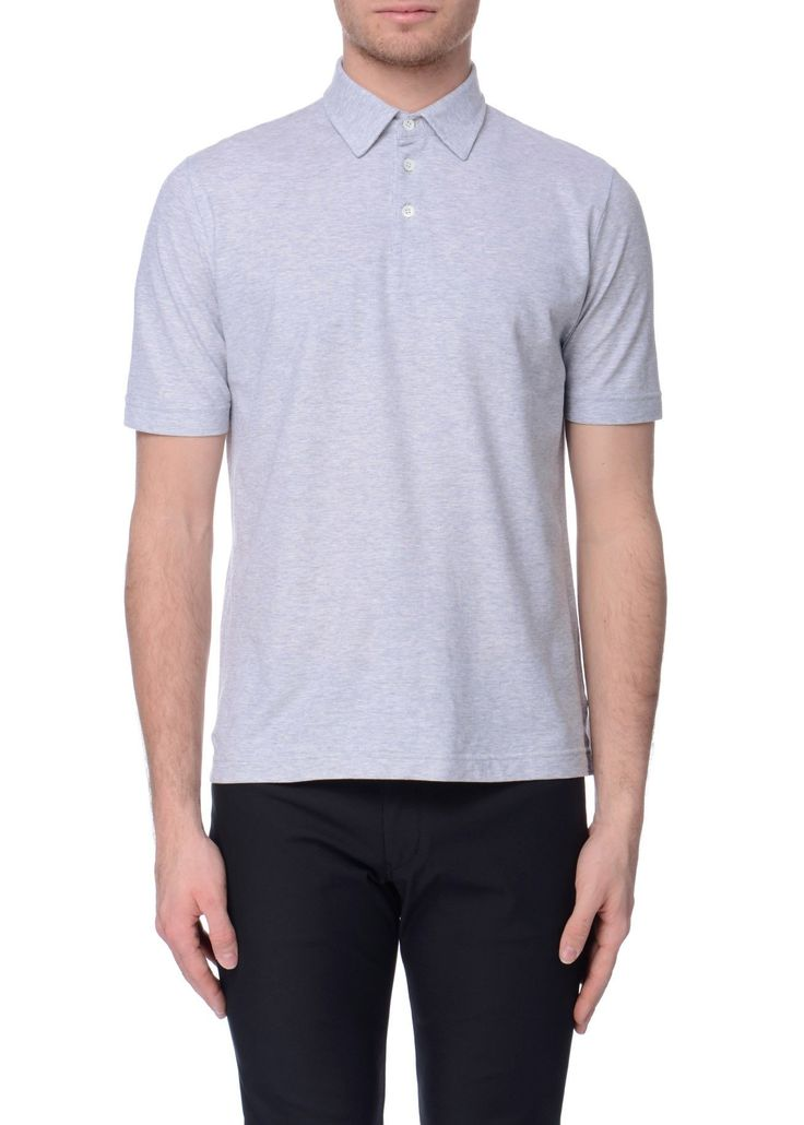 Zanone - SS17 - Menswear // Light grey polo shirt in cotton