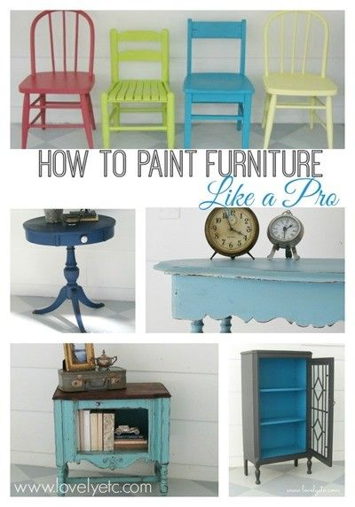 Tips on painting furniture! One day my dear, I might be brave