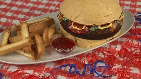 How to Make a Cheeseburger Cake Allrecipes.com