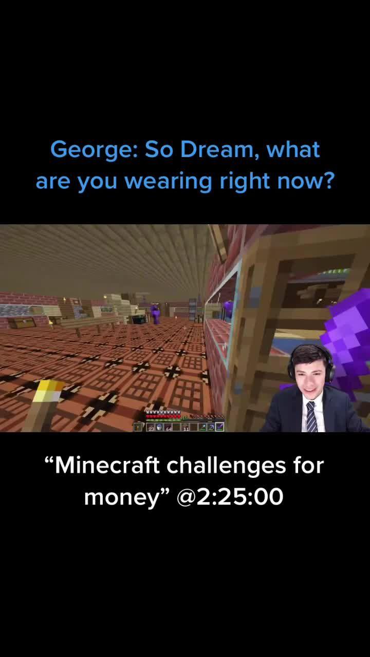 Dreamwastaken Videos On Tiktok Minecraft Challenges Videos Hashtags