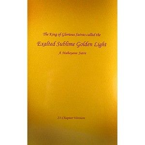 Sutra of Golden Light - we recited this for Saka Dawa - beautiful and inspirational Buddhist text.